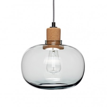 Hubsch Pendant Lamp in Blue Glass and Cork
