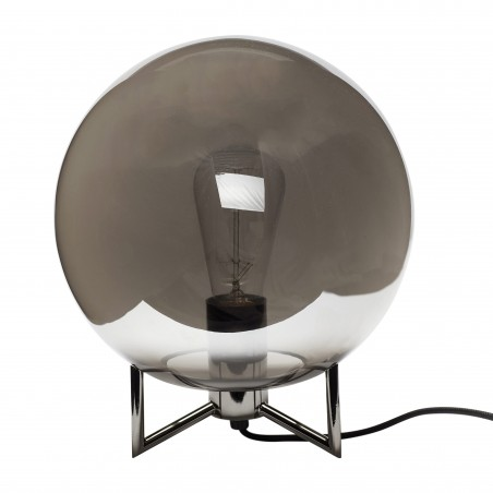 Hubsch Smoked Mirror Globe Table Lamp
