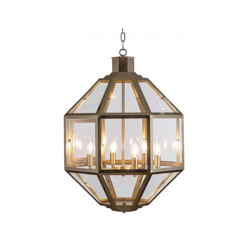 Liang & Eimil Clear Glass and Antique Brass Pendant