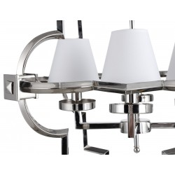 Liang & Eimil Nickel Chandelier with Four Small Lamp Shades