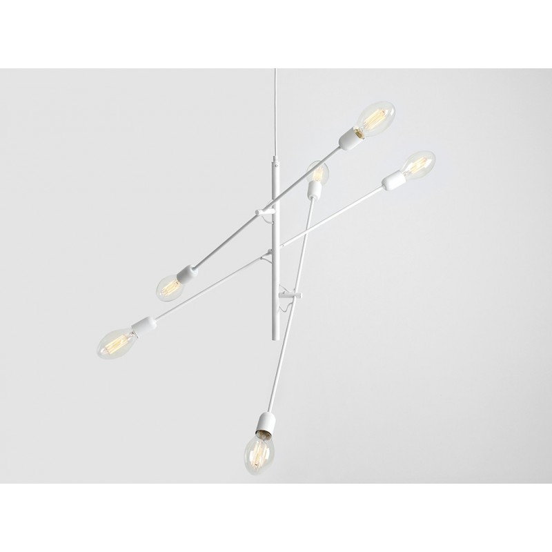 Custom Form Twigo 6 Pendant Lamp | White