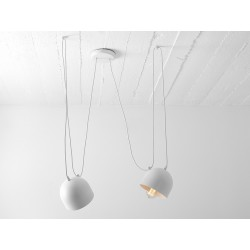 Custom Form POPO 2 Pendant Lamp white Color