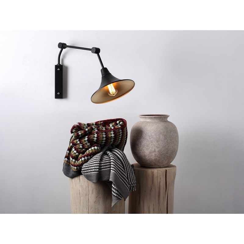 Custom Form MILLER WALL Table & Wall Lamps black Color