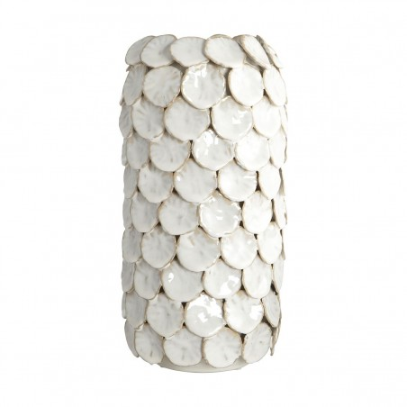 House Doctor Dot Vase in White Glazing
