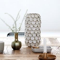 House Doctor Dot Vase in White Glazing