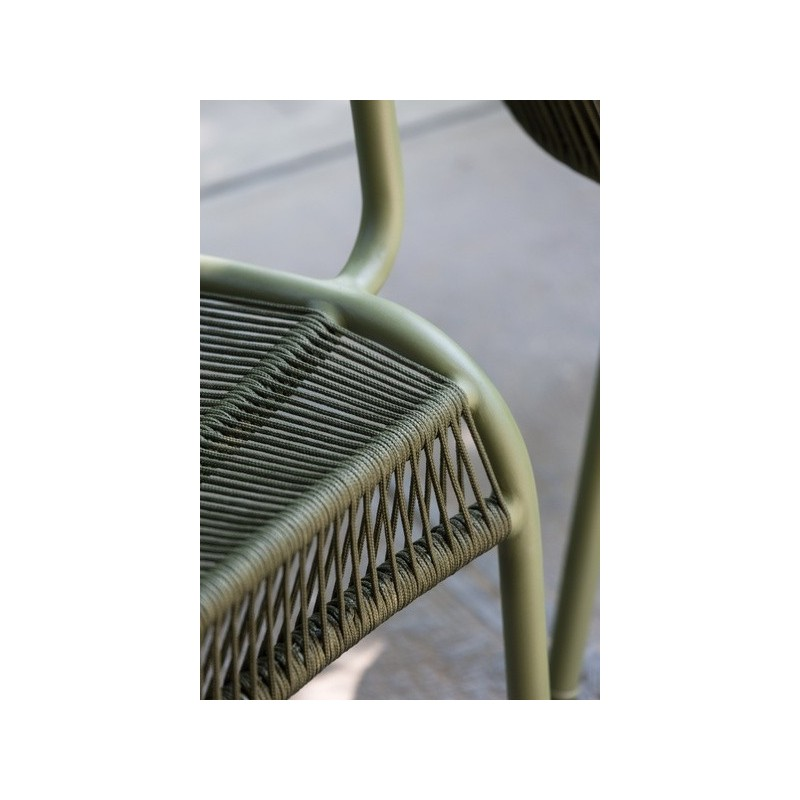 Vincent Sheppard Loop Outdoor Dining Chair Rope Moss