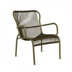 Vincent Sheppard Loop Outdoor Lounge Chair Rope Moss