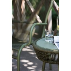 Vincent Sheppard Loop Outdoor Side Table Rope Moss