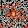 Mind The Gap Floral Painting Dark Wallpaper