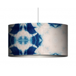 Mind The Gap Indigo Shibori Drum Pendant Lamp