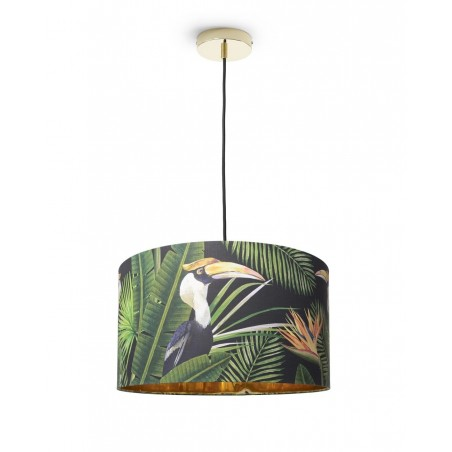 Mind The Gap Birds of Paradise Drum Pendant Lamp