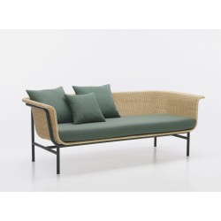 Vincent Sheppard Wicked Sofa Natural-Dark Green