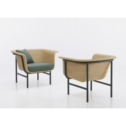 Vincent Sheppard Wicked Lounge Chair Dark Green -Natural