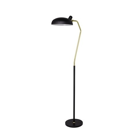 Bloomingville Metal Floor Lamp in Black and Brass Finish