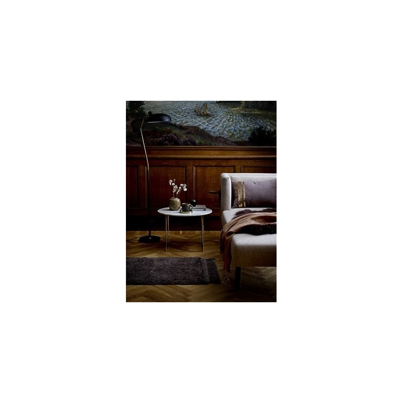 Bloomingville Metal Floor Lamp in Black and Brass Finish