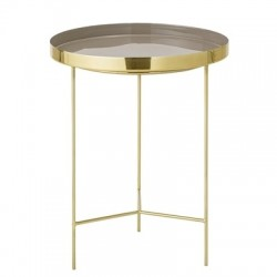 Bloomingville Brown Aluminum Tray Table