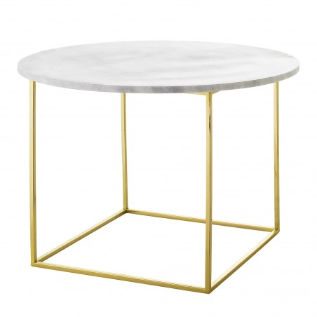 Bloomingville Eva Coffee Table White Marble and Gold Frame