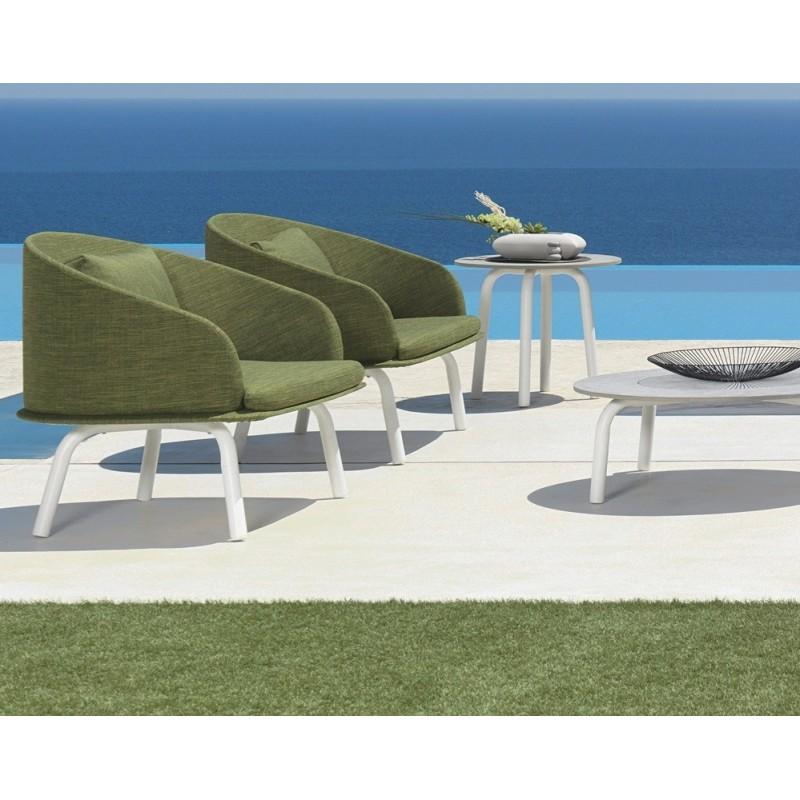 Talenti Cleo Alu Round Garden Coffee Table D50