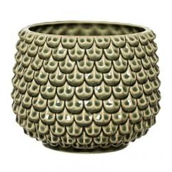 Bloomingville Stoneware Green Flower Pot