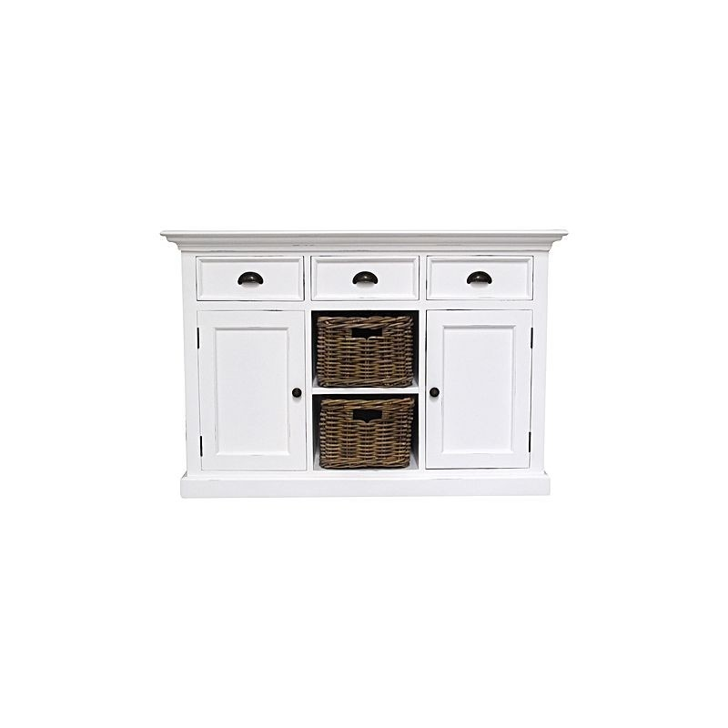 Halifax Painted Mahogany Buffet With Two Baskets