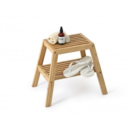 Wireworks Slatted Stool in Bamboo