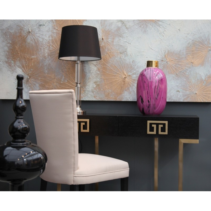 Black and Brass Dressing Table| Art Deco Style