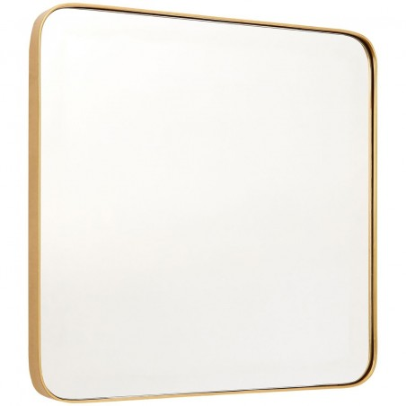 Medium Square Mirror with Golden Frame