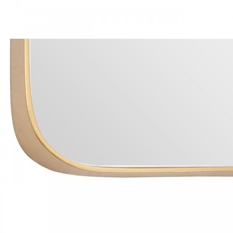 Medium Square Mirror with Golden Frame