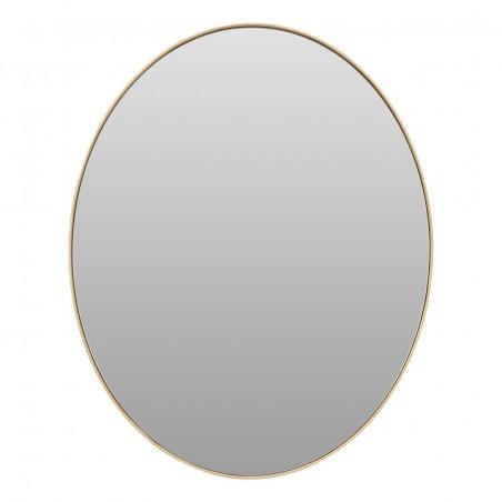 Medium Oval Mirror with Slim Golden Frame