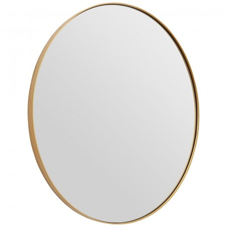 Medium Oval Mirror with Slim Golden Frame
