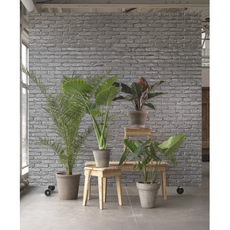 Piet Hein Eek Wallpaper Brick Wall Silver PHM-34