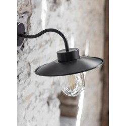 Garden Trading Swan Neck Outdoor Wall Light in Carbon