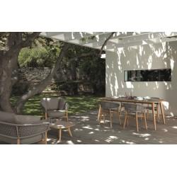 Talenti MOON Outdoor Rectangular Teak Coffee Table