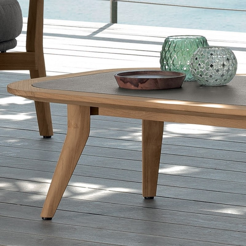 Talenti MOON Outdoor Rectangular Teak Coffee Table|Outdoor ...
