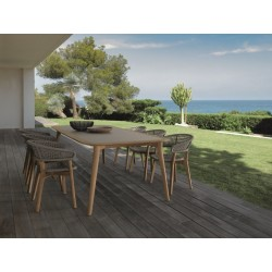 Talenti Moon Outdoor Rectangular Teak Dining Table