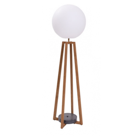 Cross Outdoor Floor Lamp | Teak