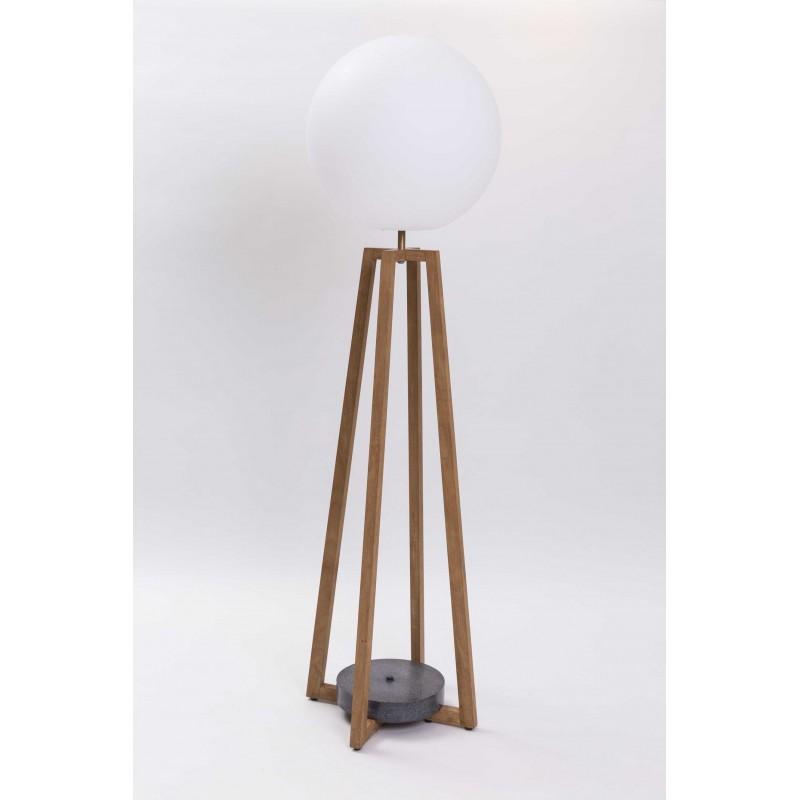 Cross Outdoor Floor Lamp | Teak