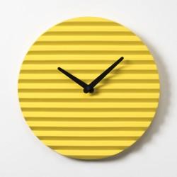 Wave Wall Clock by Sabrina Fossi Design - Yellow