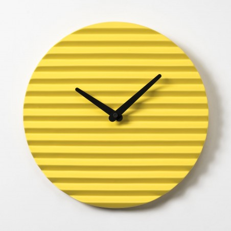 Wave Wall Clock by Sabrina Fossi Design - Yellow
