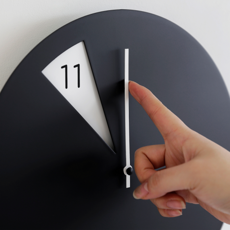 Freakish Wall Clock by Sabrina Fossi Design - Black / White