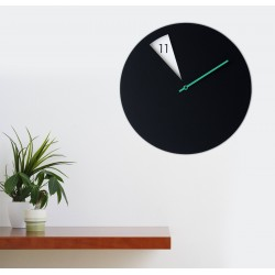 Freakish Wall Clock by Sabrina Fossi Design - Black / Green