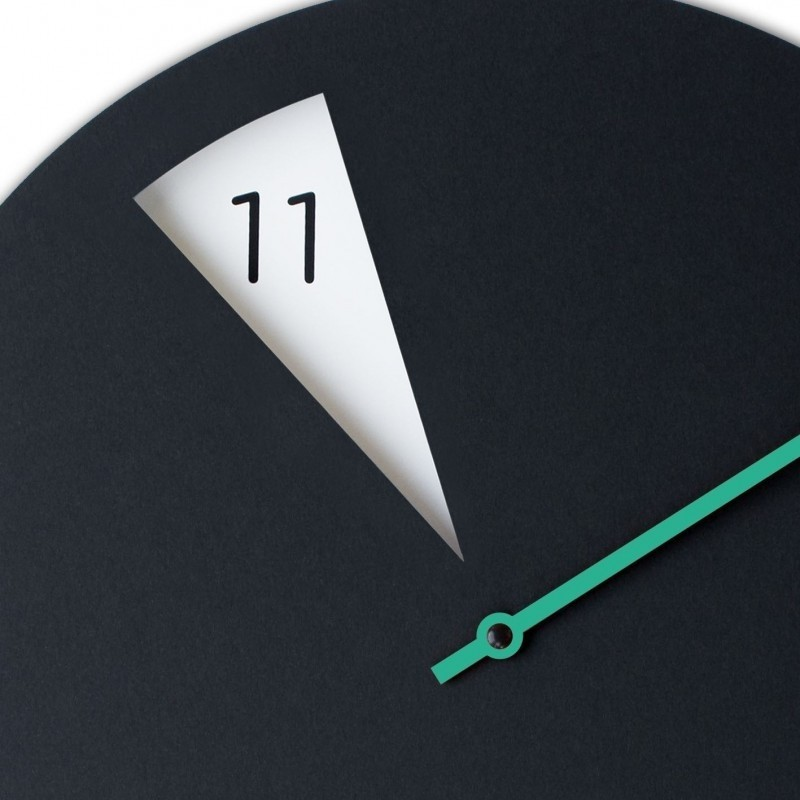 Freakish Wall Clock by Sabrina Fossi Design - Black / Green