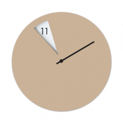 Freakish Wall Clock by Sabrina Fossi Design - Beige