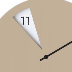 Freakish Wall Clock by Sabrina Fossi Design - Beige