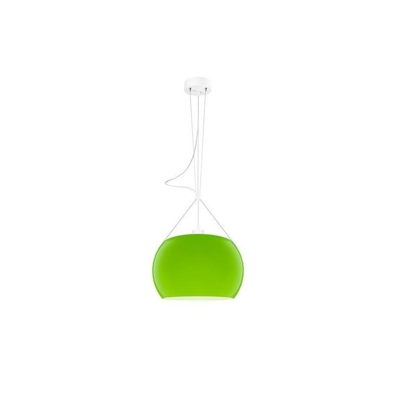 Momo Mouth Blown Glass Hanging Lamp - Green