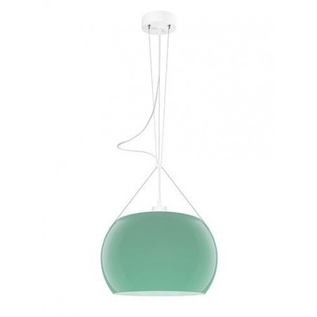 Momo Mouth Blown Glass Hanging Lamp - Blue