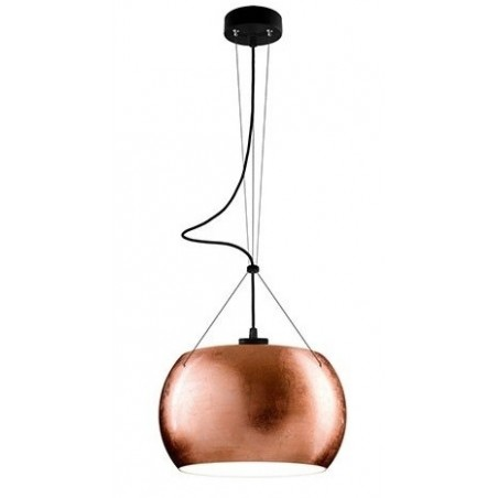 Momo Mouth Blown Glass Hanging Lamp - Copper