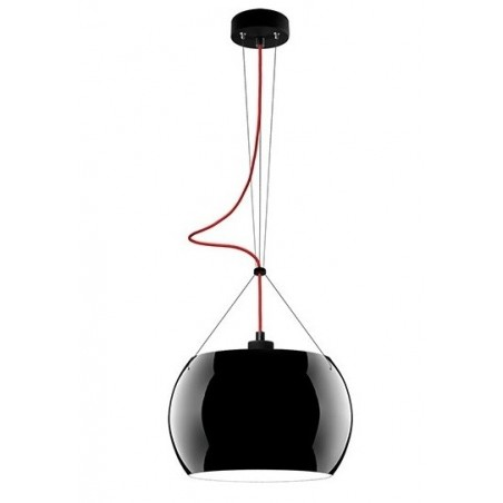 Momo Mouth Blown Glass Hanging Lamp - Black
