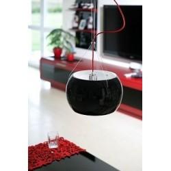 Momo Mouth Blown Glass Hanging Lamp - Black