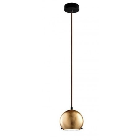 Myoo Gold Leaf Mouth Blown Opal Glass Pendant Lamp